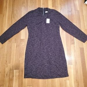 Calvin Klein long sleeve high neck grey dress XL